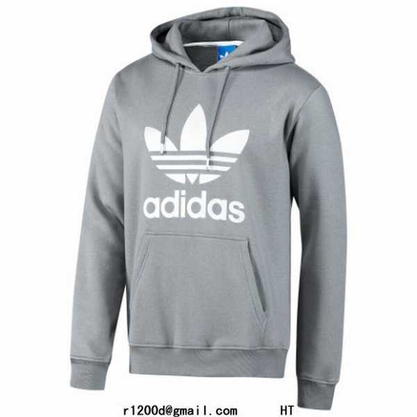 sweat a capuche hommes adidas rouge